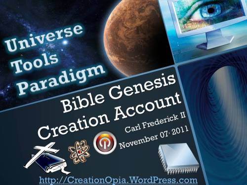 Bible Genesis Creation Account Cover
